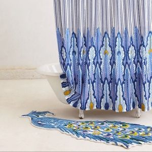 Gorgeous Large Peacock Bathmat